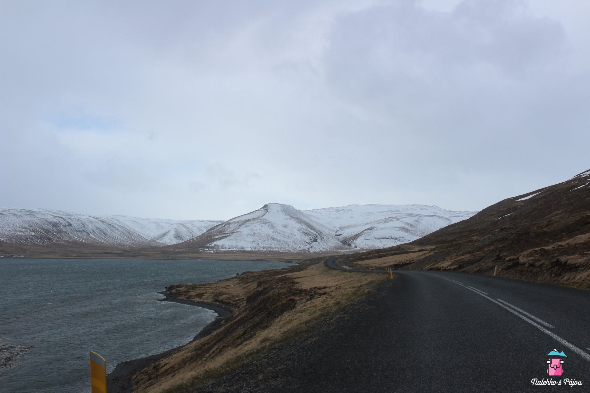 Cesta z westfjordů se takto klikatila x hodin