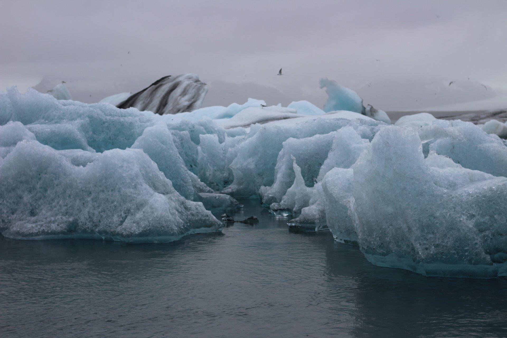 Ledovcové jezero... Počasí nám sice nepřálo, ale zážitek neskutečný